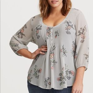 Torrid floral blouse